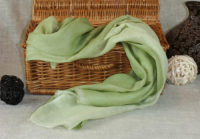 cieniowany zielony szal