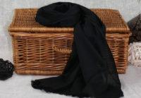 czarny szal z bawelny