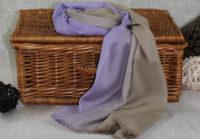 fioletowy cieniowany szal z bawelny