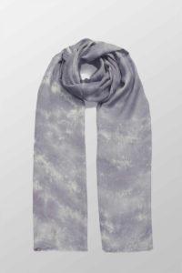 liliowy szal bawelniany