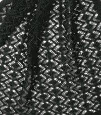 szal kaszmirowy w kolorze czarnym
