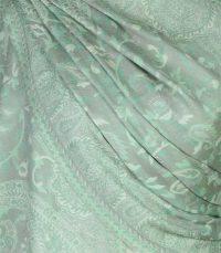 szal welniany w kolorze mietowym z welny merino