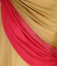szal welniany w kolorze zlotym z welny merino