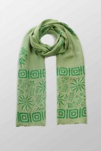 zielony szal bawelniany