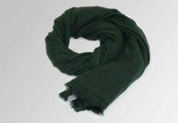 zielony szal z welny